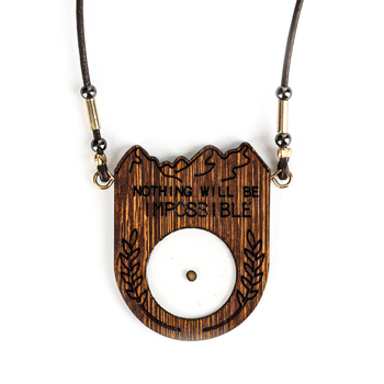 Faith in Bloom, Matthew 17:20 Mustard Seed Pendant Necklace, Wood, Gold, 20 Inch Chain