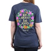 Cherished Girl, Ephesians 4:32 Be Kind, Women's Short Sleeved T-Shirt, Vintage Navy Heather, S-3XL