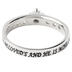 Spirit & Truth, I am my Beloved's, Princess Solitaire Purity Ring, Stainless Steel, Size 9