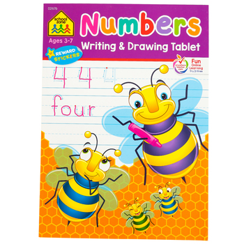 School Zone, Numbers Writing and Drawing Tablet Workbook, 96 Pages, Preschool-Grade 2