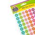 Teacher Created Resources, Confetti Stars Mini Incentive Stickers, Multi-Colored, 378 Stickers