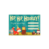 Woodland Tails Collection, Hip, Hip Hooray! Birthday Certificates, 8.5 x 6.5 Inches, 30 Count
