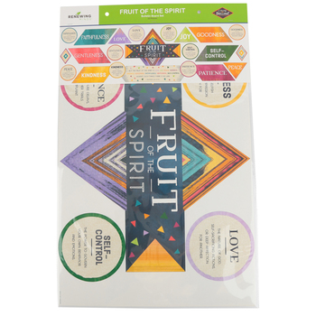 Color Me Brilliant Collection, Fruit of the Spirit Bulletin Board Set, Multi-Colored, 22 Pieces