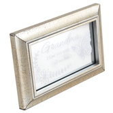 Carson Home Accents, Grandma I Love You With All My Heart Glass Plaque, Silver, 6 x 3 7/8 inches