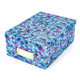 The Paper Studio, Photo Storage Box, Mermaid Scales, 7 1/2 x 11 x 4 1/4 Inches