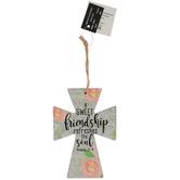 Proverbs 27:9 A Sweet Friendship Mini Wall Cross, MDF, 4 1/2 x 3 1/4 inches