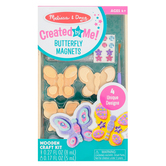 Melissa & Doug, Created By Me Butterfly Magnets Wooden Craft Kit, 49 Pieces, Grades PreK-6