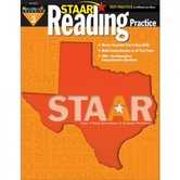Newmark Learning, STAAR Reading Practice: Grade 3, 8.5 x 11 Inches, Paperback, 144 Pages