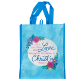 Renewing Faith, Ephesians 5:2 Live A Life Filled With Love Tote Bag, Blue, 12 x 10 x 4 inches