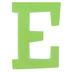 Glitter Foam Alphabet Letter Upper Case - E, 4 x 5.5 x .50 Inches, 1 Each, Assorted Colors