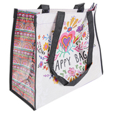 Natural Life, Heart and Flower Happy Bag, Large, 12 1/2 x 5 x 10 1/2 inches