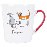 Prima Design, Pawsome Cat Coffee Mug, Ceramic, 19.3 ounces