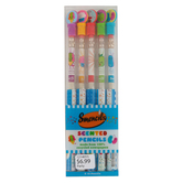 Smencils, Scented Pencils, 7 3/8 Inches, Assorted Colors, Pack of 5
