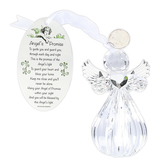 Enesco, Angels Promise Ornament, Acrylic, Clear, 4 x 2 x 2 1/4 inches