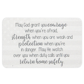 Carson Home Accents, May God Grant You Courage Pocket Card, Metal, 2 x 3 1/4 inches