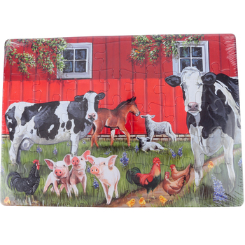 Outset Media, Red Barn Farm Puzzle, 35 Pieces, 10 x 14 inches