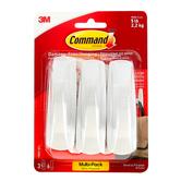 Command, Large Utility Hooks, Value Pack, White, 3 Pack