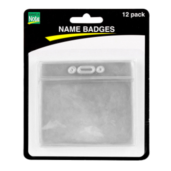 Renewing Minds, Horizontal Name Badge Holders, Clear, 3.5 x 2.25 Inches, 12/PK