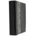 NLT Parallel Study Bible, Duo-Tone, Black with Ornate Floral Fabric