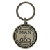 Dicksons, Jeremiah 17:7 Man of God Keyring, Metal, Antique Silver, 2 1/2 x 1 3/8 inches