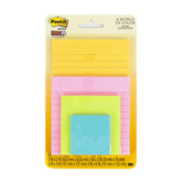 3M, Post-It Super Sticky Notes, Various Sizes, Miami Collection, 4 Pads, 45 Sheets Each