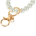 the Jewelry Shoppe, Glass Pearl Bracelet Keychain, White, One Size Fits Most