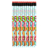 Renewing Minds, Happy Birthday Pencil, Baby Blue and Multi-Color, 7.38 Inches, 1 Each