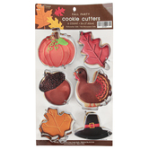 Brother Sister Design Studio, Fall Party Leaf Cookie Cutters, Metal, Silver-tone, 9 Cookie Cutters