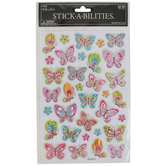 the Paper Studio, Whimsical Foil Butterfly Stickers, 34 Stickers