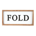 Fold Wall Plaque, MDF & Metal, White, Black, and Brown, 13 x 7 inches