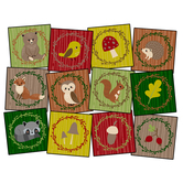 Flagship Carpets, Woodland Friends Seating Rug, Assorted, 15 Inches x 15 Inches, 1 Each