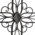 Swirls and Flower Cross Wall Decor, Metal, Black Brown, 26 3/4 x 18 x 5/8 inches