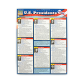 BarCharts, U.S. Presidents Laminated Quick Study Guide, 8.5 x 11 Inches, 6 Pages, Grades 4 and up