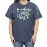 Kerusso, Full Hands and Full Hearts, Women's Short Sleeve T-shirt, Heather Navy, S-3XL