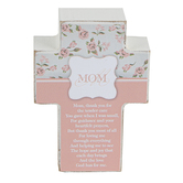 Dicksons, Mom Tabletop Cross, MDF, 4 inches