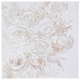 Floral Canvas Wall Decor, White and Gray, 25 3/4 x 26 x 1 5/8 inches