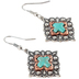 Wildflower Road, Turquoise Cross Dangle Earrings, Zinc Alloy, Antique Silver and Copper