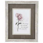 Carson Home Accents, She Is Strong She Is My Mother Framed Artwork, PVC, 8 x 10 inches