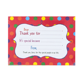 Product Concept Manufacturing, Kids Thank You Notes & Envelopes, 7 x 5 inches, 3 Each of 4 Designs