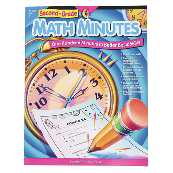 Creative Teaching Press, Math Minutes Workbook, Reproducible Paperback, 112 Pages, Grade 2