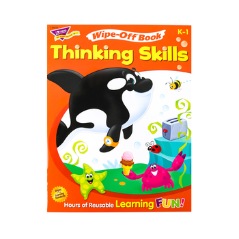TREND, Thinking Skills Wipe-Off Book, 28 Pages, Grades PreK-K