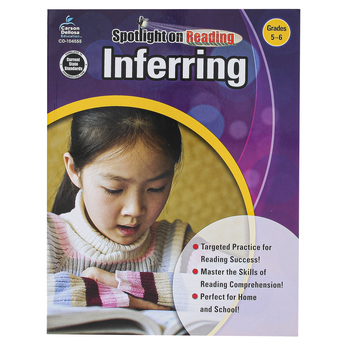 Carson-Dellosa, Inferring Resource Book, Spotlight on Reading, Reproducible Paperback, Grades 5-6