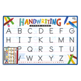 The Brainery, Handwriting Uppercase Learning Mat, Plastic, 11 1/2 x 17 1/2 Inches, Ages 4 and up