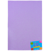 Silly Winks, Glitter Foam Sheet, Pastel Purple, 12 x 18 Inches, 1 Each