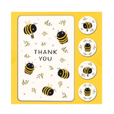 Orange Circle Studio, Buzzy Bees Thank You Cards, 5 1/4 x 3 1/2 Inches, 12 Cards with Envelopes