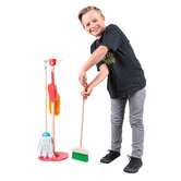 Melissa & Doug, Let's Play House! Dust, Sweep, & Mop Set, Ages 3 to 6 Years Old, 6 Pieces