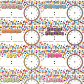 Ashley Productions, Inc., Confetti Magnetic Schedule Cards, 10 Pieces