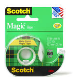 Scotch, Magic Tape in Dispenser,  .50 x 800 Inches, Clear, 1 Roll