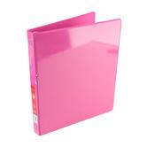 Bazic Products, Dual Pocket View Binder, Fuchsia, 9 1/2 x 1/2 x 11 1/4 inches