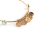 Modern Grace, Psalm 50:6 The Heavens Adjustable Bangle Bracelet, Zinc Alloy, Gold